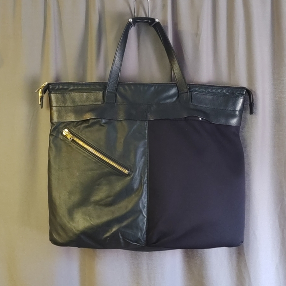 Tim Coppens Leather master - piece Tote Bag Black